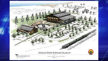 An architectural rendering of the Arizona State Railroad Museum. By Jennifer Thomas