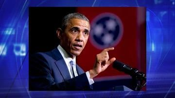 President Barack Obama speaks at Pellissippi State Community College, Friday, Jan. 9, 2015, in Knoxville, Tenn., about new initiatives to help more Americans go to college and get the skills they need to succeed. By Jennifer Thomas