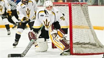 ASU goalie Robert Levin By Brad Denny