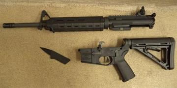 An assault rifle was seized over the weekend by CBP officers at the Port of Douglas from a smuggler attempting to carry it strapped to his side. By Jennifer Thomas