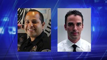 Sgt. Leonard Perez (left) and Officer Joshua Hawksworth By Jennifer Thomas