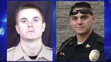 Deputy Jon Mennen (left) and Sgt. Jason Mingura By Jennifer Thomas