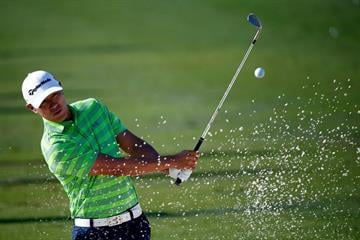 SCOTTSDALE, AZ - FEBRUARY 01: James Hahn is seen on the practice range during the fourth round of the Waste Management Phoenix Open at TPC Scottsdale on February 1, 2015 in Scottsdale, Arizona.  (Photo by Sam Greenwood/Getty Images) By Sam Greenwood