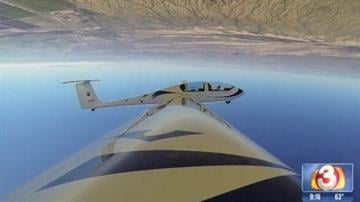 """An Arizona man plays a big role in the new """"50 Shades of Grey"""" movie. The flying scene in the movie was made possible by Jason Stephens, one of the top aerobatic sailplane pilots in the world. By Mike Gertzman"""