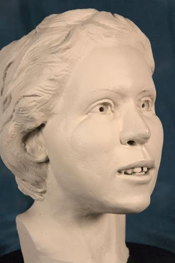 FBI facial reconstruction that was made from the victim's skull By Jennifer Thomas