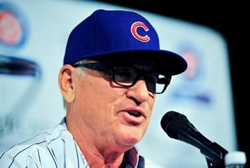 CHICAGO, IL - NOVEMBER 03:  The Chicago Cubs new manager Joe Maddon answers questions during a press conference at Wrigley Field on November 3, 2014 in Chicago, Illinois.  (Photo by David Banks/Getty Images) By David Banks