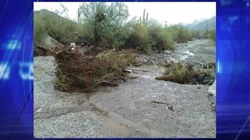 A wash adjacent to the main ranger station at South Mountain Park By Jennifer Thomas