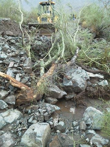 Rock slide on South Mountain Park's Summit Road By Jennifer Thomas