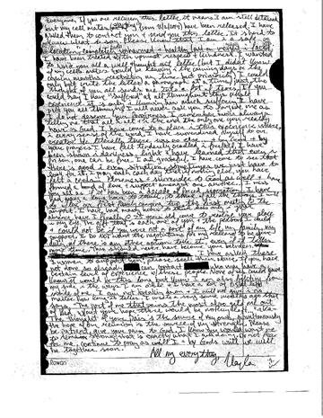 Mueller's family released a copy of an unpublished letter (with transcription) Kayla wrote to her loved ones in the Spring of 2014, while in captivity. By Courtesy Mueller Family