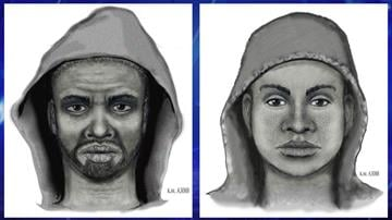 Police released sketches of two of the suspects. By Jennifer Thomas