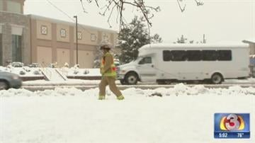 Flagstaff firefighters helped cordon off a downed power line By Jennifer Thomas