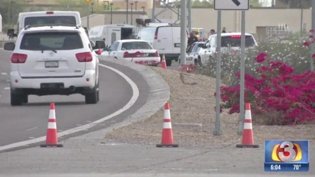 Police said the motorcycle left the roadway and went into a wash area. (Source: 3TV)
