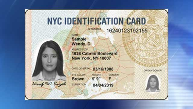 Sample of an NYC identification card (Source: NYC.gov)