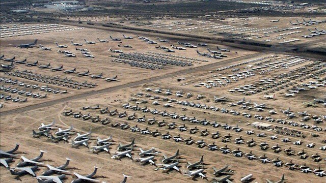 Davis-Monthan Air Force Base currently uses approximately 40 small sites in Arizona and extreme southwestern New Mexico as landing and drop zones. (Source: Wiki Commons/MGN Online)