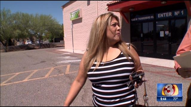Rosie Galope, who owes a contractor money,  tried to dodge 3 On Your Side's Gary Harper. (Source: 3TV)