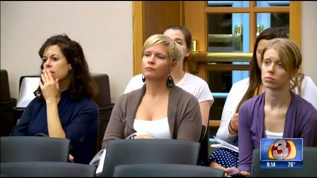 Many at Thursday's meeting were not aware that a school closure was being considered. (Source: 3TV)