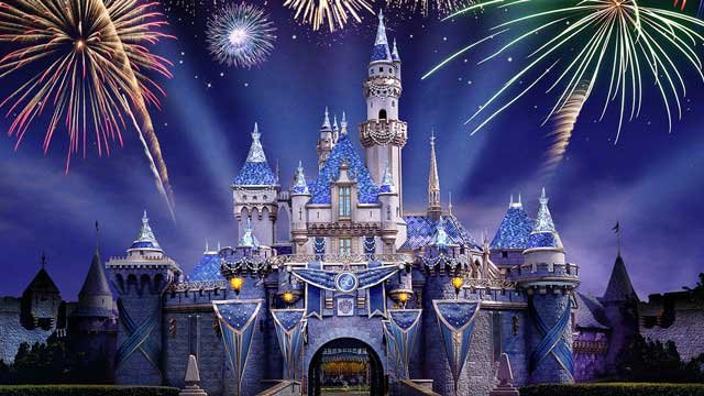 Cinderella's Castle is decked out for the occasion. (Source: Disneyland.com)