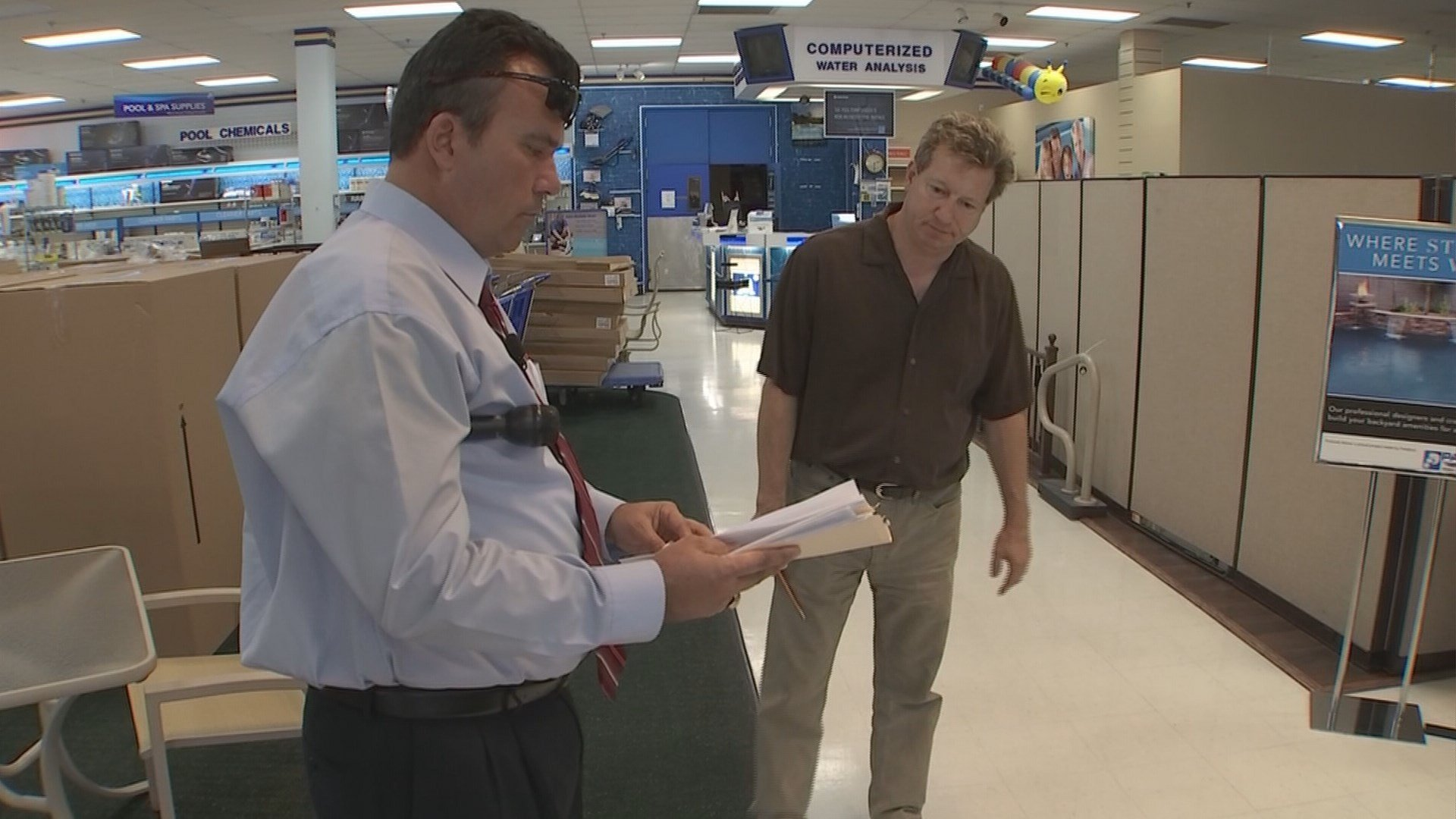 Gary Harper went to Paddock's company headquarters to get answers. (Source: 3TV)
