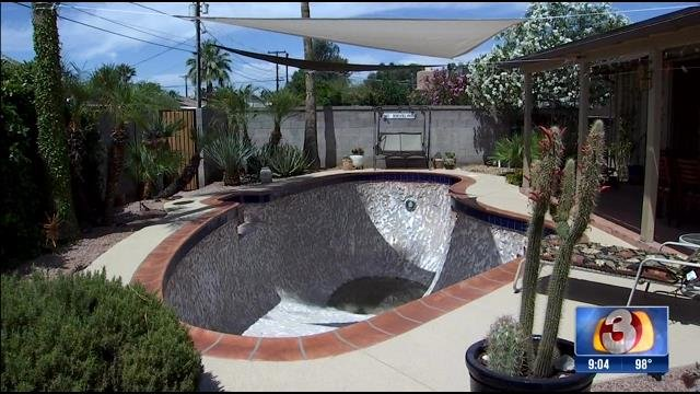 William Hershey hired Paddock Pools back in February to remodel his backyard pool. It's still not finished. (Source: 3TV)