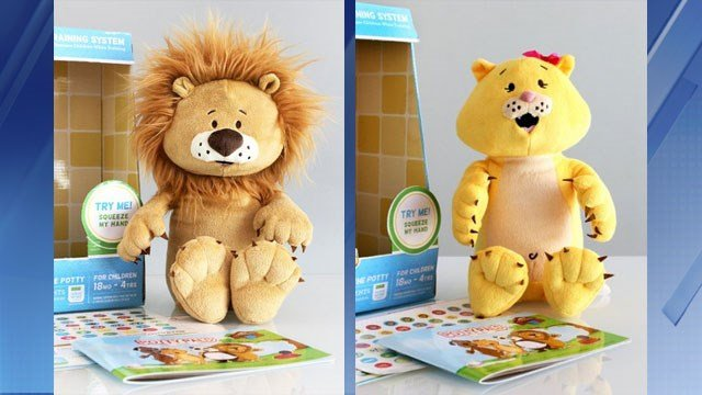 Larry Lion and Katie Kitty will help your little ones learn to use the potty. (Source: Potty Pals)