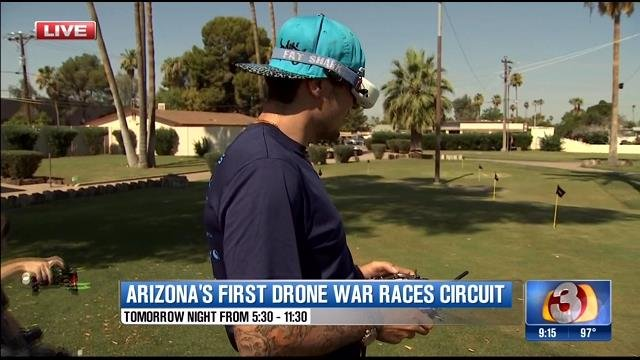 Pilots will racing using first-person view goggles. (Source: 3TV)