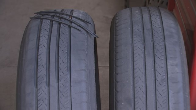 One expert calls regrooved passenger tires an accident waiting to happen. (Source: 3TV)