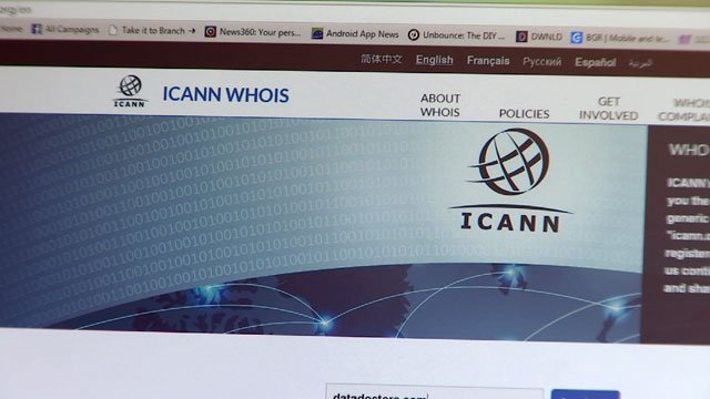 ICANN's WHOIS resource can help you learn about the people behind any website. (Source: 3TV)