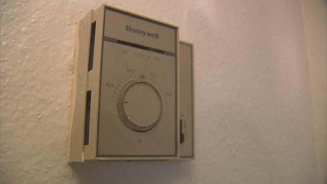 When 3 On Your Side was there, the needle on her thermostat was all the way to the right where it was maxed out at 90 degrees. (Source: 3TV)