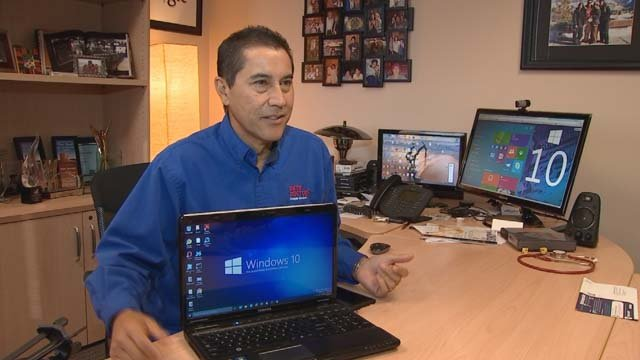 Ken Colburn got a sneak peek at Windows 10 and likes what he saw. (Source: 3TV)