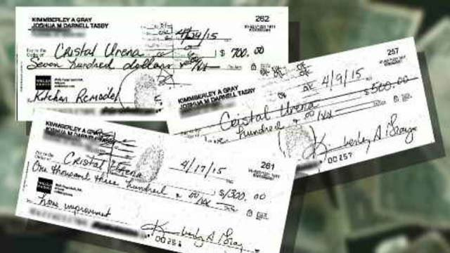 The 3 On Your Side had just one thing to go on -- the name on these checks. (Source: 3TV)