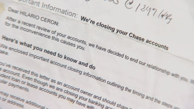 A bank does not have to give you a reason for closing your account and severing ties with you. (Source: 3TV)