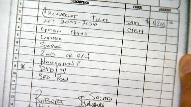 A hand-written receipt documented the transaction. (Source: 3TV)