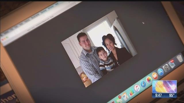 "The scammer sent Markham a lovely photo of ""his"" family. (Source: 3TV)"
