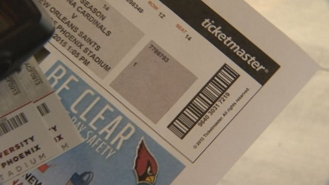 It's more difficult than ever to tell a fake event ticket from a legit one. (Source: 3TV)