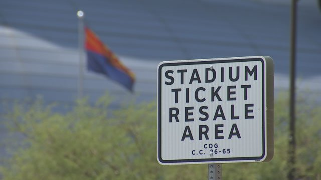 There is a designated ticket resale are at University of Phoenix Stadium, but that's no guarantee that the tickets you might buy are real. (Source: 3TV)