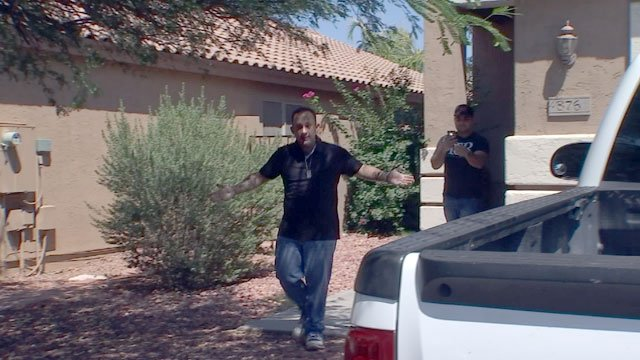 This unlicensed contractor was not happy to see 3 On Your Side. (Source: 3TV)