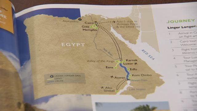 DeLaine Pappas recently decided to plan an Egyptian cruise in memory of her husband. (Source: 3TV)