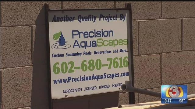 A Peoria man said a pool company took more than $100,000, but never finished the job it was contracted to do. (Source: 3TV)