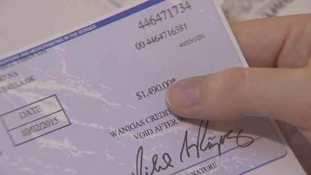 The supposed buyer sent a check for nearly $1,500 with instruction to wire the remainder to the 'movers.' (Source: 3TV)