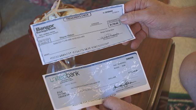 The 'buyer' sent Wayne Watson two check, both for well more than the asking prices for the pianos. (Source: 3TV)