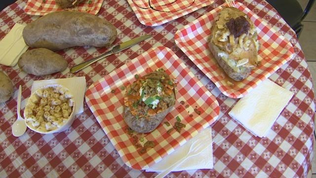 These are no ordinary baked potatoes. They're loaded! (Source: 3TV)