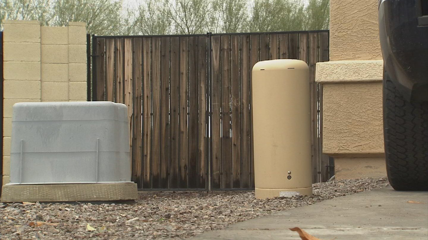 The utility boxes block access to the RV gate. (Source: 3TV)