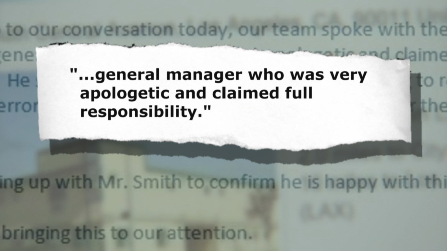 Part of the response from Hotels.com (Source: 3TV)