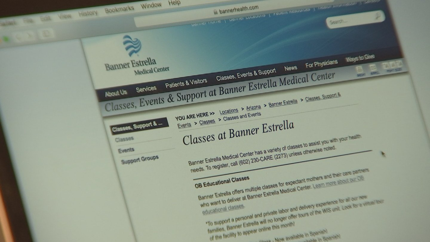 Banner Estrella Medical Center said its website has been corrected. (Source: 3TV)