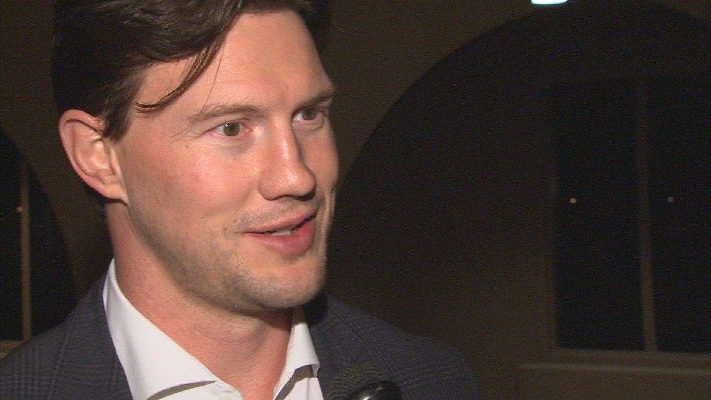 """I was raised in an incredibly strong Christian family,"" Shane Doan said. (Source: 3TV)"