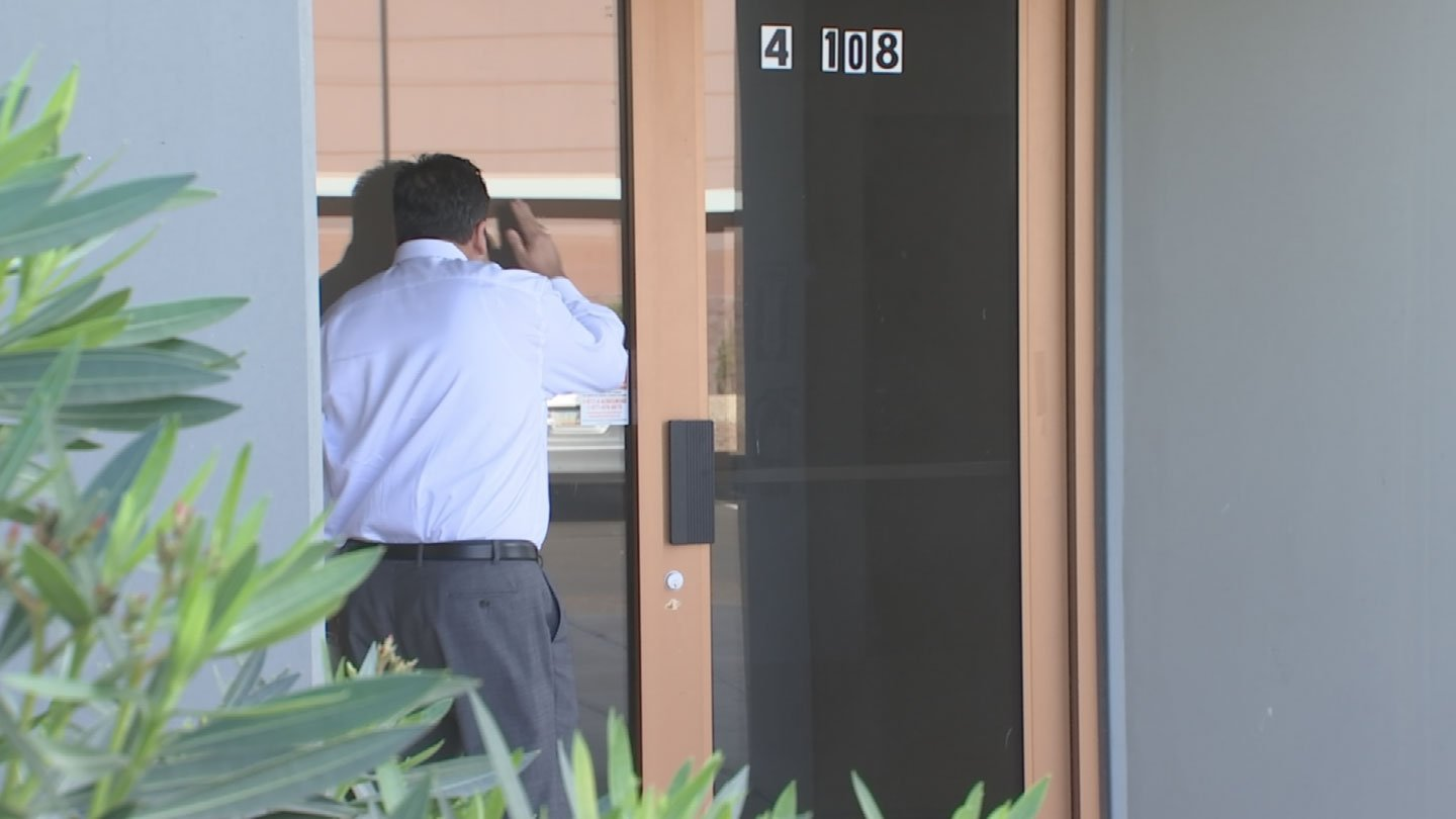 Gary Harper went to the address Bryan Hayden lists on numerous documents. It was empty. (Source: 3TV)