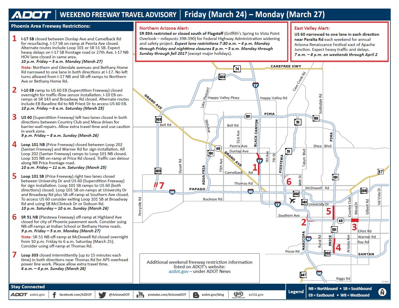 ADOT Weekend Freeway Travel Advisory (March 24-27) - Arizona\'s Family