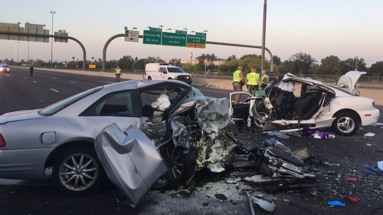 Wrong way driver hits kills sisters on i 17 in phoenix for Motors and vehicles az