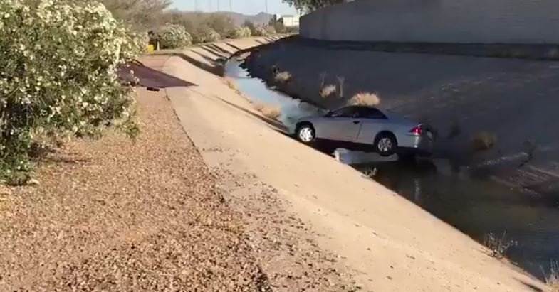 Vehicle ends up in chandler canal after tire failure for Department of motor vehicles chandler arizona