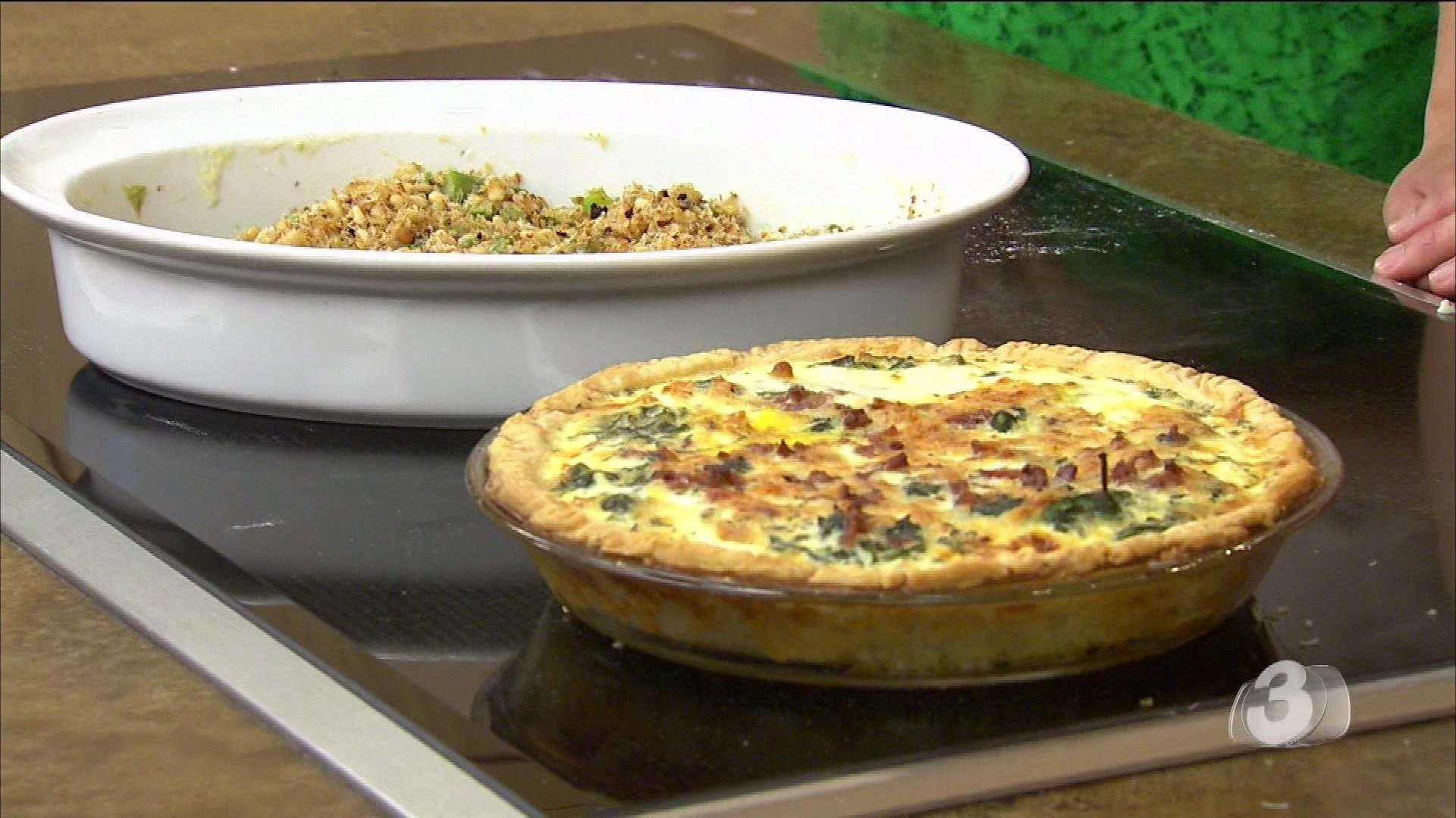 Spring Greens Quiche and Asparagus Gratin - Arizona's Family